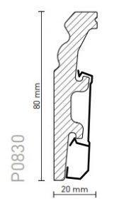 Plinta arbiton vega polimer dur P0830