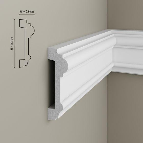 Brau decorativ de perete din polimer rigid B13