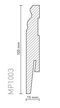 Plinta Arbiton MDF Paint-it MP1003