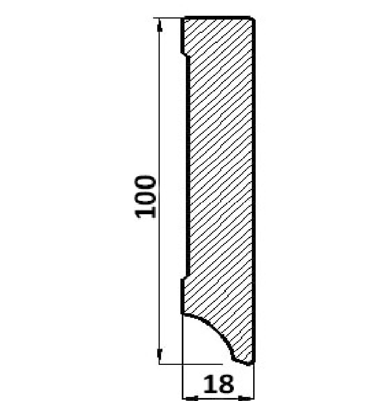 Plinta mdf Egger cubica P100C.01