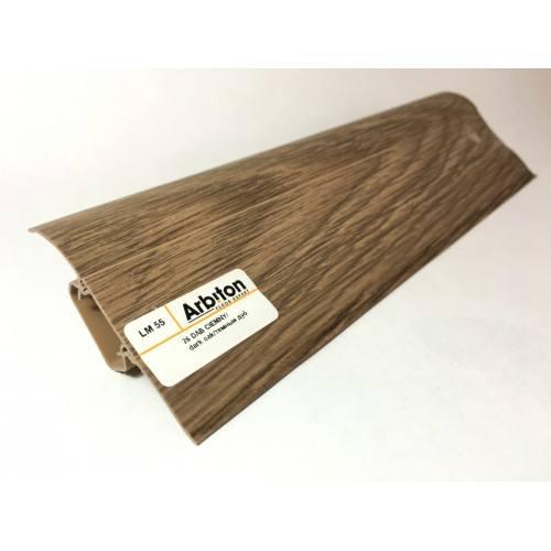 Plinta pvc canal cablu stejar negru Arbiton-500x500