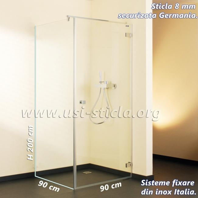 cabina de dus sticla 90x90 cm